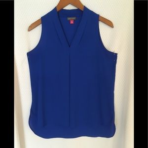Lightweight, royal blue blouse by Vince Camuto